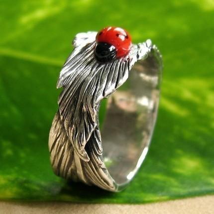 Ladybug Earrings And Cat Noir Ring